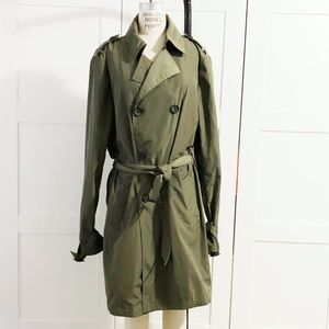 Mackage olive green trench coat 42
